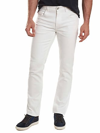 Robert Graham Mens Palin Tailored Fit Jeans In White Size: 29W by Robert Graham
