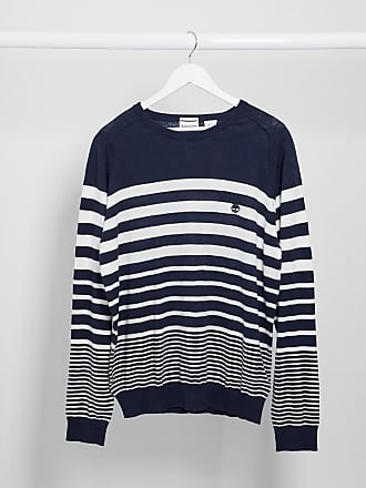 Timberland Mill River stripe crew neck jumper-Navy