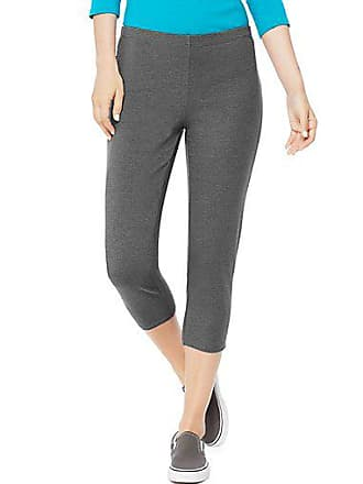 Hanes Womens Stretch Jersey Capris Charcoal Heather 2XL