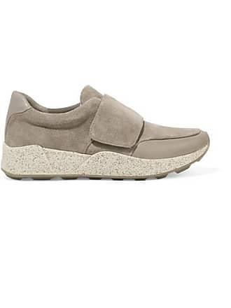 Vince Gage Leather-trimmed Suede Sneakers - Gray