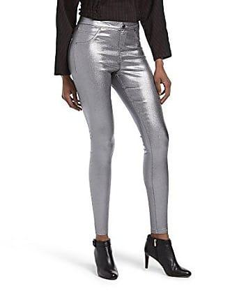 Hue Womens Plus Size Fashion Denim Leggings, Assorted, Iridescent Metallic - Gunmetal, 1X