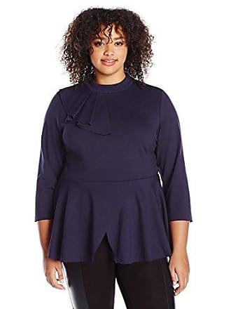 bc935c1dcd5601 Melissa McCarthy Seven7 Womens Plus Size Flounce Peplum Top