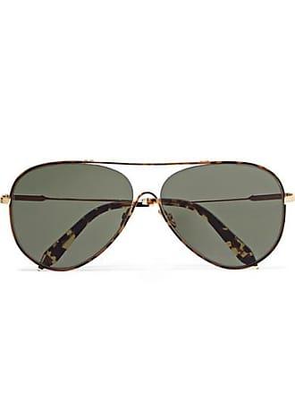 208381a41f Victoria Beckham Loop Aviator-style Tortoiseshell Acetate And Gold-tone  Sunglasses - Black