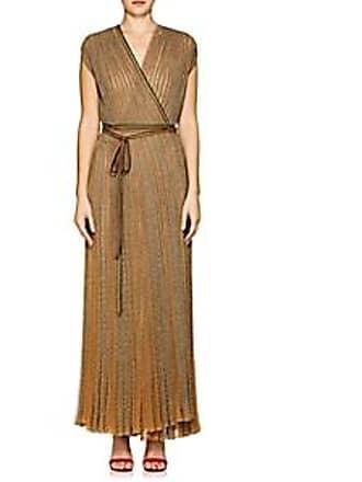 2e4a5a22a6def Missoni Womens Metallic Rib-Knit Wrap Dress - Gold Size 42 IT