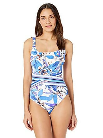 788f34055c8 Gottex Womens Textured Square Neck One Piece Swimsuit
