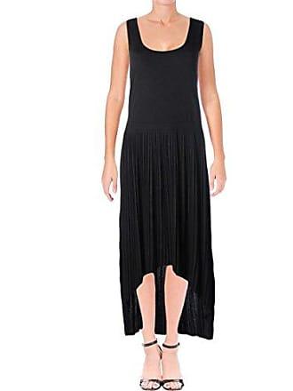Joan Vass Womens High Low Dress, Black 1