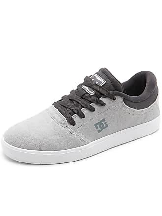 DC Tênis Couro DC Shoes Crisis La Cinza
