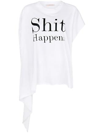 Christopher Kane Camiseta Shit Happens - Branco