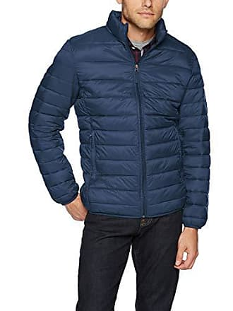 Amazon Essentials Mens Lightweight Water-Resistant Packable Puffer Jacket, Navy, Small