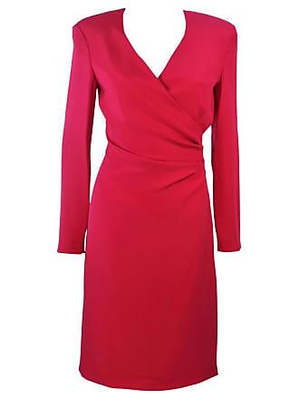 d7850044a4 Giorgio Armani Armani Magenta Drape Silk Cocktail Dress Size 8 10