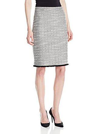 Ellen Tracy Womens A-line Skirt, Black Combo, 6