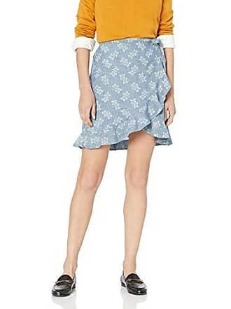 73255afde J.crew Womens Tie Waist Floral Chambray Ruffle Wrap Mini Skirt, Fractal  Flowers Navy