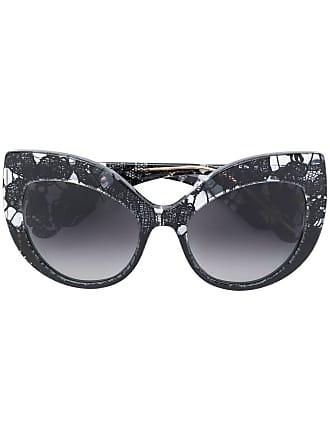 Dolce & Gabbana Eyewear Óculos de sol gatinho oversized - Preto