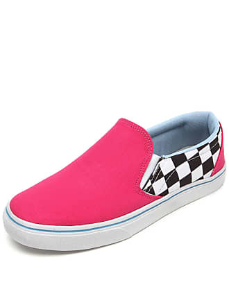Ride Skateboard Slip On Ride Skateboard Xadrez Race Rosa