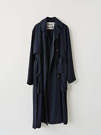 Acne Studios FN-WN-OUTW000100 Midnight blue Long trench coat