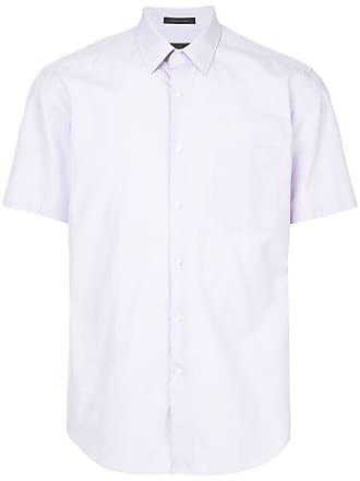 Durban Camisa listrada mangas curtas - Rosa