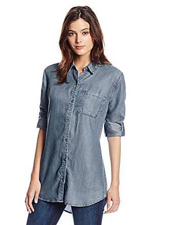 Liverpool Jeans Company Womens Tencel Tunic, Hampton Dark, X-Small