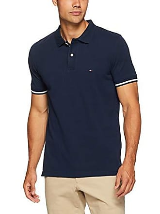 a24bf813 Tommy Hilfiger Mens Tipped Slim Fit Polo Shirt, Sky Captain, X-Small