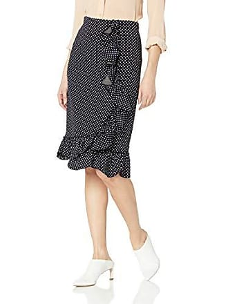 84e5b6b53d9e11 Rebecca Taylor Womens Ruffle Pencil Skirt, Navy Combo 6