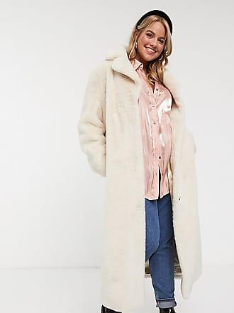 New look cappotto effetto peluche beige asos beige autunno