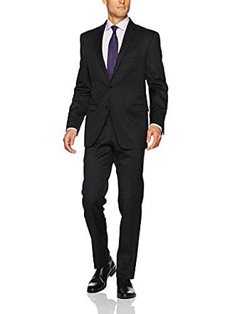 U.S.Polo Association Mens Wool Suit, Solid Grey, 38 Short