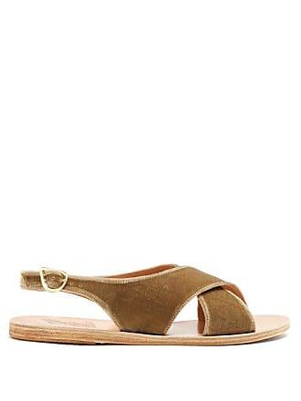 cuir Maria velours Ancient en Sandals Greek et Sandales roWCBdxe