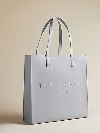 Ted Baker Crosshatch Large Icon Bag in Light Grey SOOCON, Womens Accessories