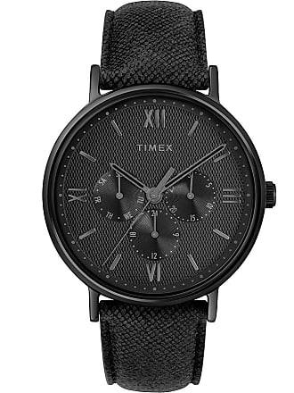 Timex Watch Mens Southview Multifunction 41MM Leather Strap Black Item Tw2T35200Za