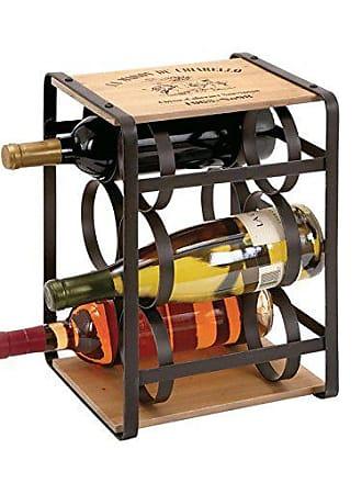 UMA Enterprises Inc. Deco 79 Metal Wood Wine Holder, 10 by 13-Inch