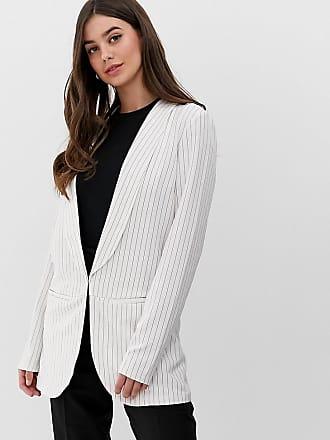 Y.A.S. Tall Liva - Tailored Fit Blazer mit Nadelstreifen, Kombiteil-Weiß