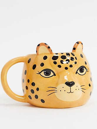 Sass & Belle Tazza a forma di leopardo-Multicolore