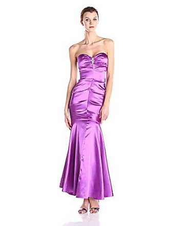 Xscape Womens Sweetheart Strapless Long Gown with Embellishment, Orchid, 10