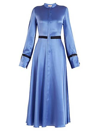 a2b7b18ac4c2 Roksanda Ilincic Zaelie Silk Charmeuse Dress - Womens - Blue