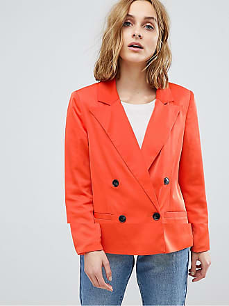 Vero Moda 80S Blazer With Shoulder Pads - Red