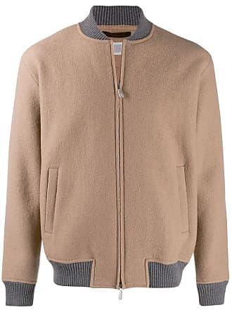Eleventy zipped bomber jacket - Marrom