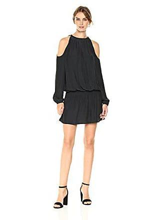 Ramy Brook Womens Lauren Dress, Black, L