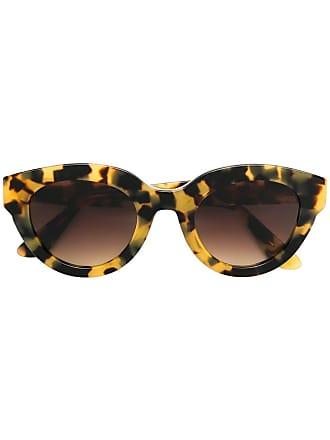Emmanuelle Khanh round frame sunglasses - Marrom