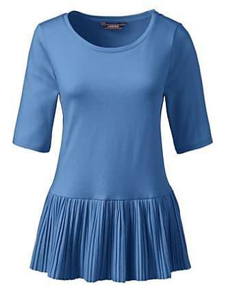 bd0d69b2dc33 Lands End Shirt mit Plissee-Saum in Petite-Größe - Blau - 32-