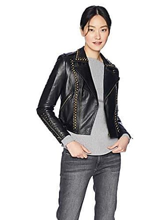 Ramy Brook Womens YOMA Studded Leather Jacket, Black Medium