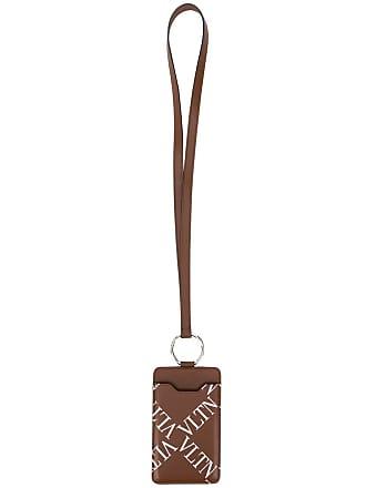 Valentino Valentino Garavani VLTN Grid logo phone case - Brown