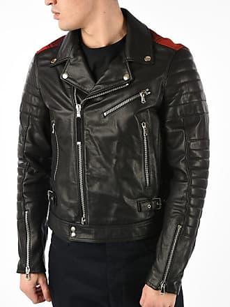Diesel BLACK GOLD Leather LOCHECK Jacket size 46
