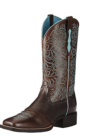 2f35a00d1ad79c Ariat Womens Round Up Remuda Western Boots in Naturally Dark Brown Leather