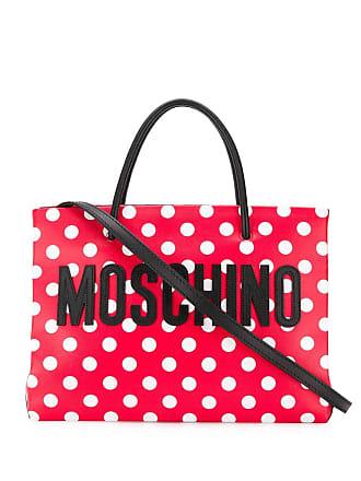 Moschino polka dot tote bag - Red