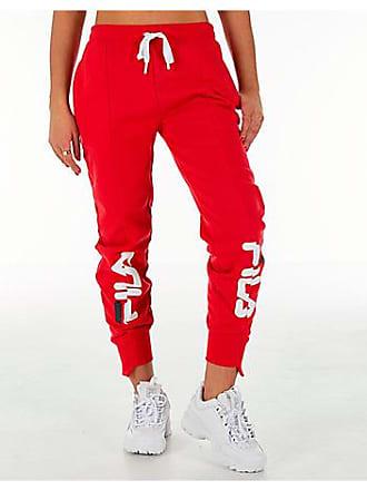 6daf447da3c0 Fila Womens Alessia Reconstructed Fleece Jogger Sweatpants, Red