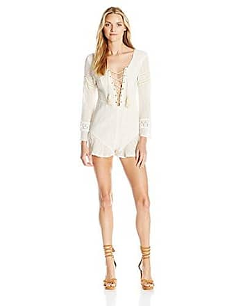 69491271c2 Somedays Lovin Womens to Wonder Cotton Lace Up Playsuit, Cream Large