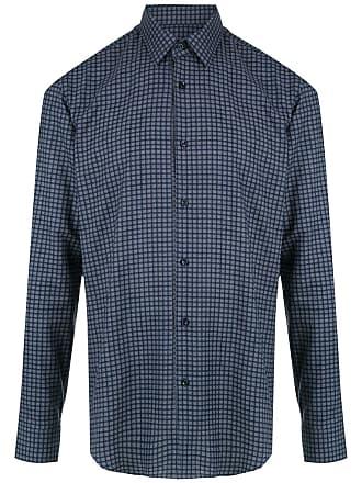 HUGO BOSS Camisa de algodão estampada - Azul