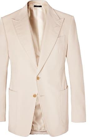 b68181ae89018f Tom Ford Cream Shelton Slim-fit Cotton And Linen-blend Corduroy Blazer -  Cream