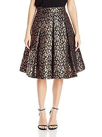 Eliza J Womens Animal Print Separate Skirt, Black/Gold, 12