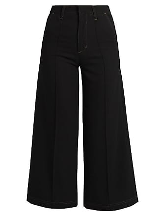 c0f5489a7e4 Wales Bonner Black Womens Reed High-rise Wool Culottes - The Webster