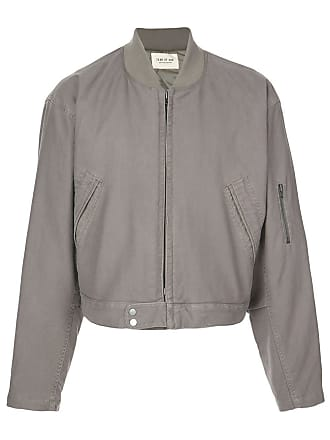 Fear of God Jaqueta bomber cropped - Cinza